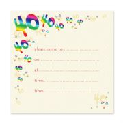 Pack of 10, 40th Birthday Party Invitations